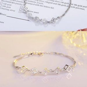 Jewelry - NEW [Set of 3] 925 Sterling Silver Diamond Cube